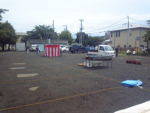 今日は、町内会の納涼祭−1