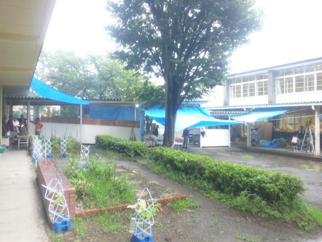 雷雨だけど、町内納涼祭